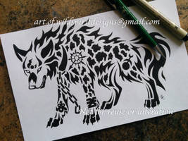 Chaos Fenrir Wolf Tribal Design + Symbols by WildSpiritWolf