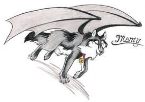 Monty Teh Vampire Wolf by WildSpiritWolf