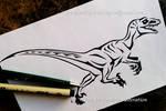Running Velociraptor - Tribal Design