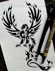 Taloned Phoenix - Tribal Design by WildSpiritWolf