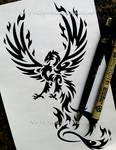 Taloned Phoenix - Tribal Design