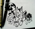 Red XIII + Amaterasu + Wolf Link - Tribal Design