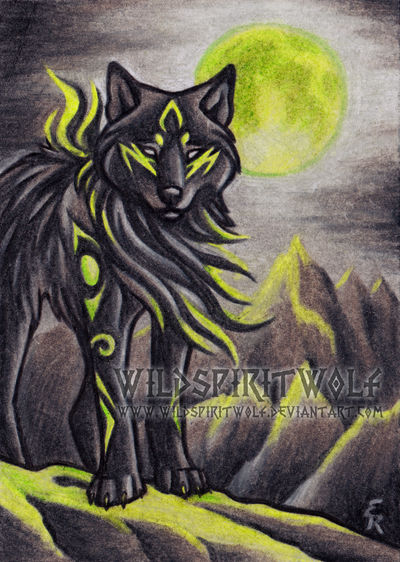 Fell Wolf - ACEO Commission by WildSpiritWolf