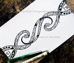 Maori Ouroboros Snakes - Armband Design by WildSpiritWolf