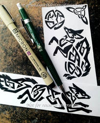 Lunar Foxes - Tribal Knotwork Designs