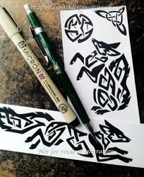Lunar Foxes - Tribal Knotwork Designs