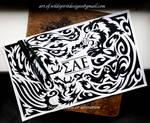 Lion + Phoenix - Sigma Alpha Epsilon Tribal Design