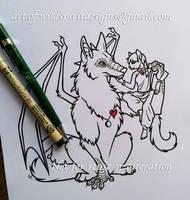 Dracor + Cat Lady - Lineart Design