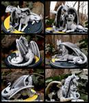 Dragon + Wolf - Celestial Wedding Topper Sculpture