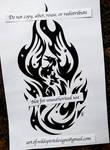 Starry Phoenix - Tribal Design