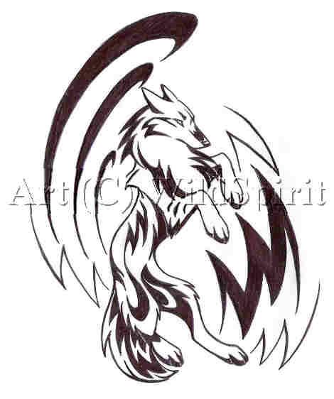 Tribal Wolf Art by WildSpiritWolf on DeviantArt