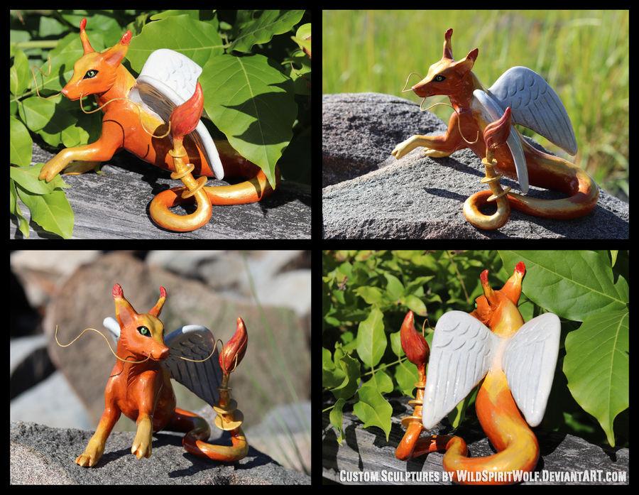 Rigel Foxgon - Fantasy Sculpture Commission
