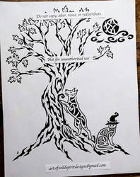 Tribal Tree Of Life + Knotwork Pets Design