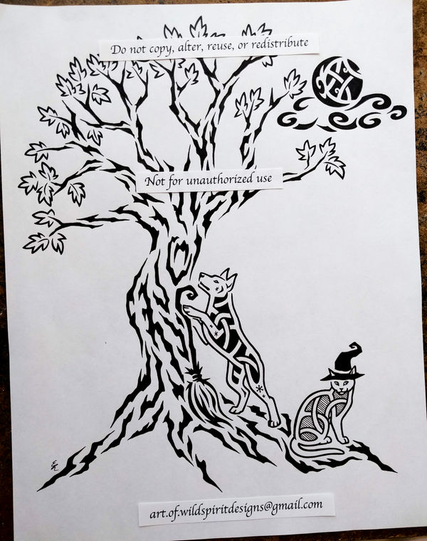Tribal Tree Of Life + Knotwork Pets Design