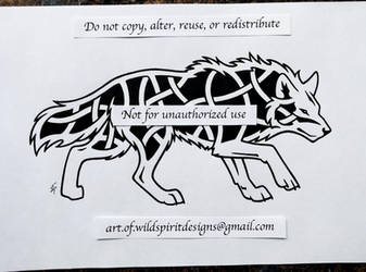 Prowling Wolf - Knotwork Design