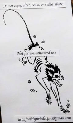 Schrodinger Skeleton Cat - Tribal Design