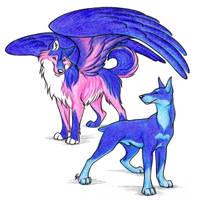 Commission Sirius And Akira by WildSpiritWolf