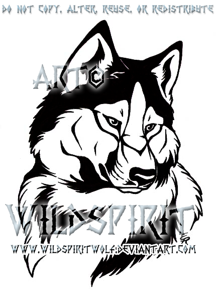 Husky Tattoo Commission by WildSpiritWolf