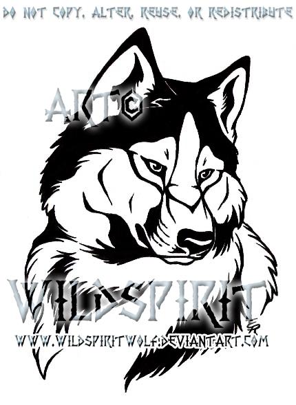 husky tattoo commission by wildspiritwolf on deviantart. Black Bedroom Furniture Sets. Home Design Ideas