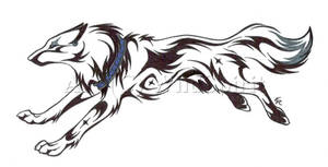 Running Wolf Tattoo Commission