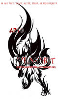 Into The Fire Wolf Tribal Design