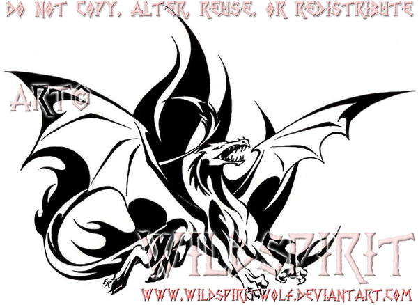 flame dragon commission by wildspiritwolf on deviantart. Black Bedroom Furniture Sets. Home Design Ideas