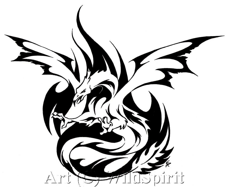 phoenix dragon commission by wildspiritwolf on deviantart. Black Bedroom Furniture Sets. Home Design Ideas