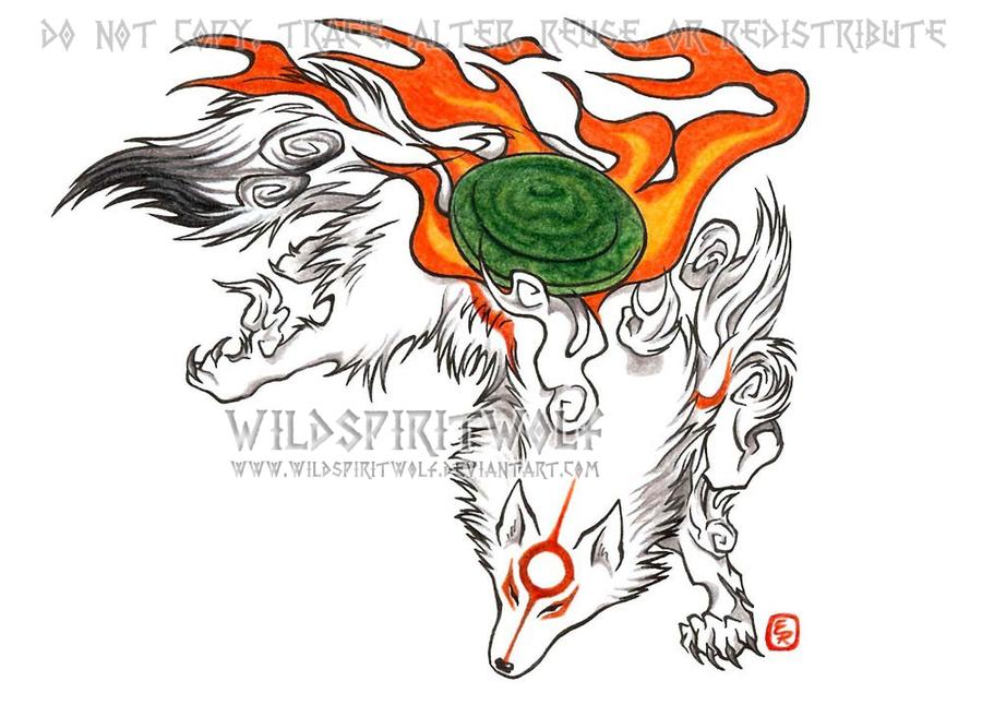 Okami - Amaterasu Fanart by WildSpiritWolf