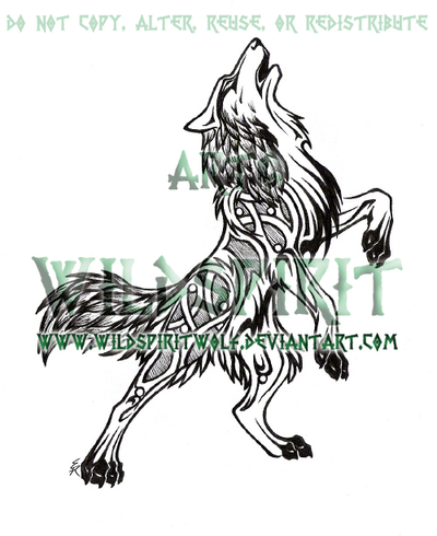Norse Wolf Tattoo Designs