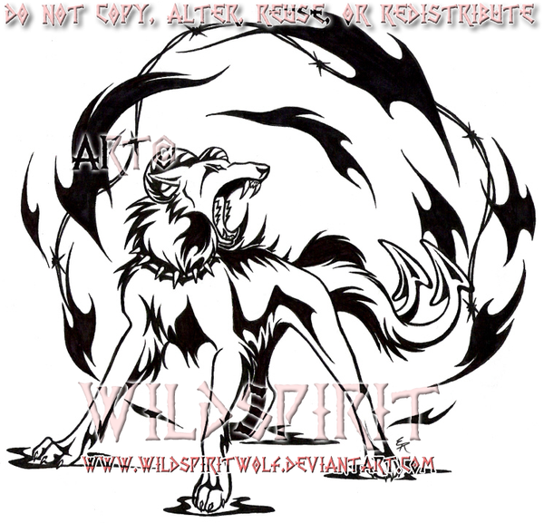 hellhound 39 s fury tattoo by wildspiritwolf on deviantart. Black Bedroom Furniture Sets. Home Design Ideas