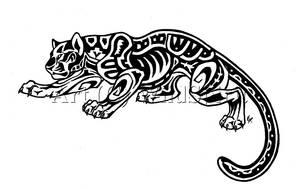 Aztec Jaguar Tattoo Commission