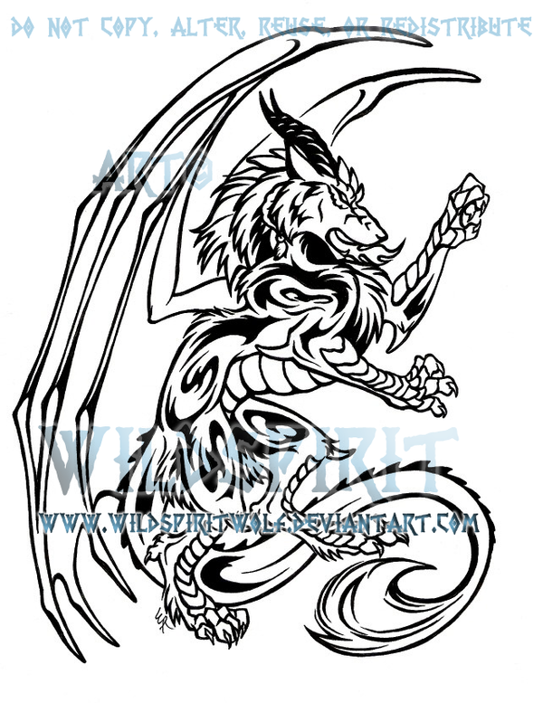 Dragon wolf tattoo design by wildspiritwolf on deviantart for Dragon and wolf tattoo