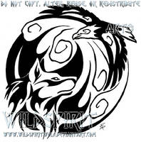 Fire Meets Wind Tribal Design by WildSpiritWolf