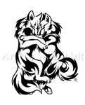 Cuddle Wolves Tattoo Design