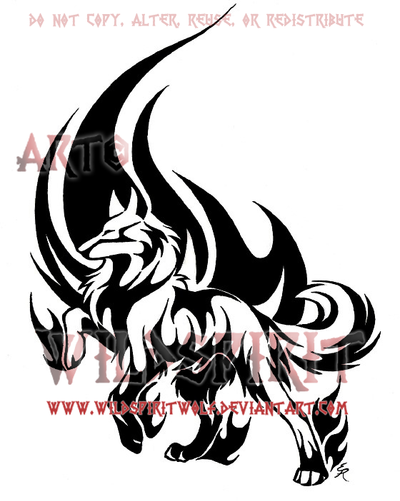 Noble Wolf Flame Tattoo by WildSpiritWolf on deviantART