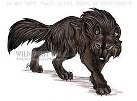 Dark Werewolf by WildSpiritWolf