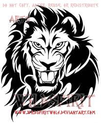 Tribal Flame Lion Design by WildSpiritWolf