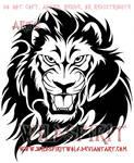 Tribal Flame Lion Design