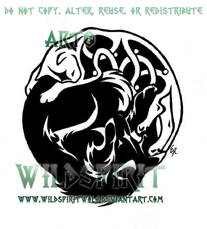 tribal wolf celtic cat tattoo by wildspiritwolf on deviantart. Black Bedroom Furniture Sets. Home Design Ideas