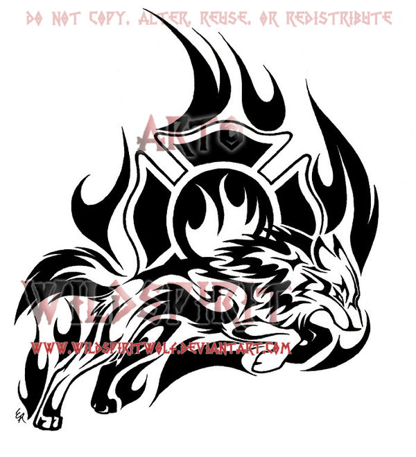 Wolf Tribal Design By WildSpiritWolf