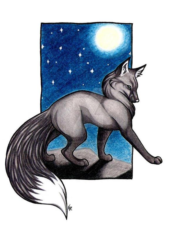 Silver Fox Night Vixen Commish by WildSpiritWolf