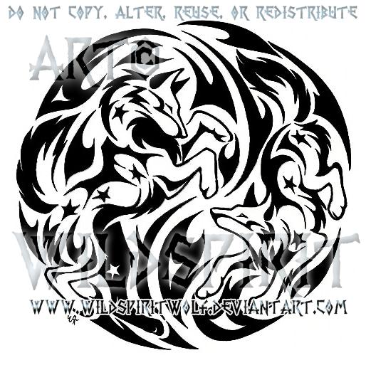 starry flame wolves tattoo by wildspiritwolf on deviantart. Black Bedroom Furniture Sets. Home Design Ideas