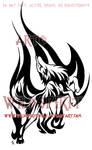 Flame Dance Wolf Tattoo
