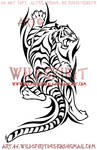 Climbing Tribal Tiger Design