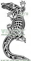 Tribal Crocodile Tattoo