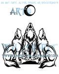Three Wolf Chorus Tattoo
