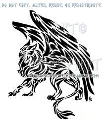 Tribal Gryphon Tattoo by WildSpiritWolf