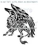 Tribal Gryphon Tattoo