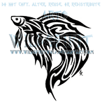 Tribal Betta Fish Tattoo