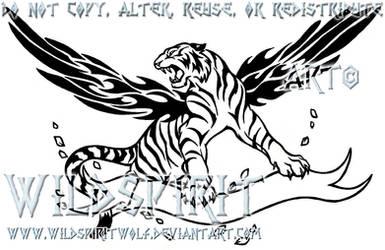 A Fire Inside - Tiger Tattoo by WildSpiritWolf